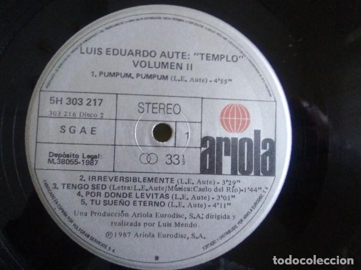 Discos de vinilo: DOBLE LP .LUIS EDUARDO AUTE - TEMPLO - GATEFOLD - ARIOLA 5H 30321 1987 SPAIN ORIGINAL+LETRAS. - Foto 14 - 122187507