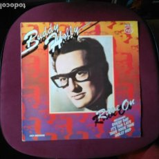 Discos de vinilo: BUDDY HOLLY-RAVE ON (LP. MUSIC FOR PLEASURE.1975) CONT: EVERYDAY...GRAN RECOP ROCK & ROLL CLASICO. Lote 122188143