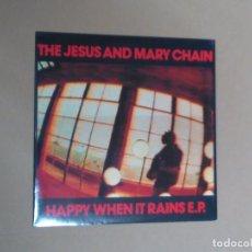 Disques de vinyle: THE JESUS AND MARY CHAIN-HAPPY WHEN IT RAINS E.P. (10''. BLANCO Y NEGRO.1987) . Lote 122190255
