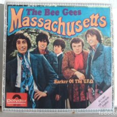 Discos de vinilo: ** THE BEE GEES - MASSACHUSETTS / BARKER OF THE U.F.O. - SG AÑO 1967. Lote 122190523