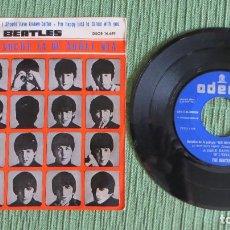 Discos de vinilo: THE BEATLES - QUE NOCHE LA DE AQUEL DIA (RARO DOBLE ERROR EN LABEL - VER FOTOS) (EDICION ESPAÑOLA). Lote 122193655