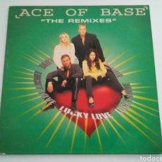 Discos de vinilo: ACE OF BASE - LUCKY LOVE (THE REMIXES). Lote 122197688
