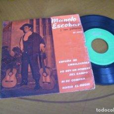 Discos de vinilo: EP : MANOLO ESCOBAR Y SUS GUITARRAS / SAEF 1960 RARO. Lote 122198507