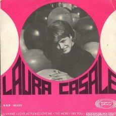 Discos de vinil: LAURA CASALE / LLAMAME + 3 (EP 1967) PORTADA ABIERTA. Lote 122210359