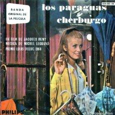 Discos de vinilo: LOS PARAGUAS DE CHERBURGO (BSO) / EN EL MUELLE / EL ADIOS + 2 (EP 1964). Lote 122248675