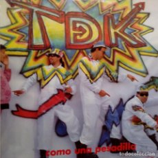 Discos de vinilo: T DE K- COMO UNA PESADILLA- LP 1988+ INSERT- VINILO COMO NUEVO.. Lote 122254199