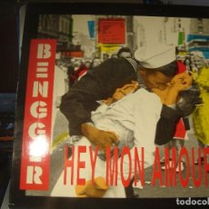 Discos de vinilo: RAR MAXI 12. BENGGER. HEY MON AMOUR. ITALO DISCO. MADE IN SPAIN. GRIND RECORDS. 2 TRACKS. 2 VERSION. Lote 122257571