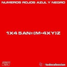 Discos de vinilo: AZUL Y NEGRO, NÚMEROS ROJOS, MAXI-SINGLE SPAIN 1985. Lote 122260315