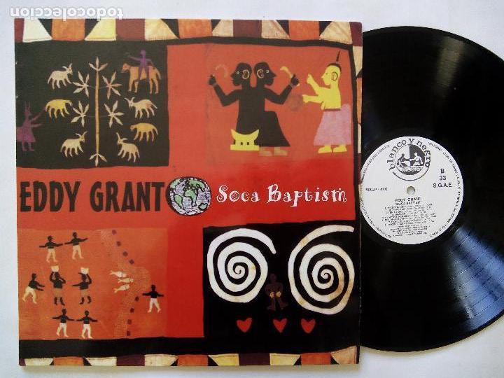 EDDY GRANT. SOCA BAPTISM. LP BLANCO Y NEGRO MXLP-446. ESPAÑA 1994. REGGAE. (Música - Discos - LP Vinilo - Reggae - Ska)