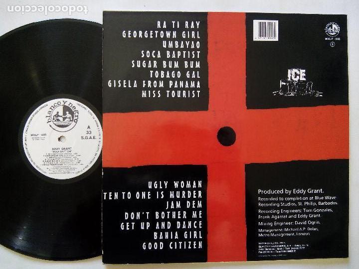 Discos de vinilo: EDDY GRANT. SOCA BAPTISM. LP BLANCO Y NEGRO MXLP-446. ESPAÑA 1994. REGGAE. - Foto 2 - 122265567