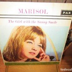 Discos de vinilo: MARISOL THE GIRL WITH THE SUNNY SMILE LP EDITADO EN ISRAEL SUPER RARO UN DISCO DE COLECCION. Lote 122271843