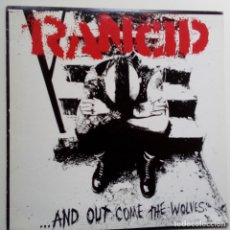 Discos de vinilo: RANCID- AND OUT COME THE WOLVES- USA LP 1995+ INSERT- EXCELENTE ESTADO.. Lote 122273671
