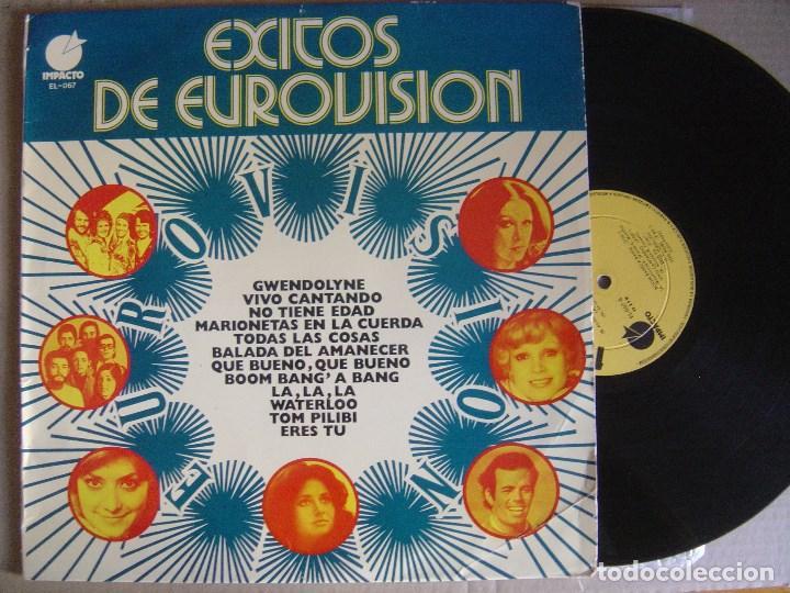 VARIOS - EXITOS DE EUROVISION - LP 1974 - IMPACTO (Música - Discos - LP Vinilo - Festival de Eurovisión)