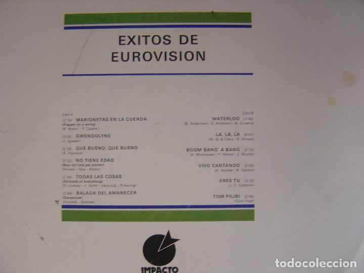 Discos de vinilo: VARIOS - EXITOS DE EUROVISION - LP 1974 - IMPACTO - Foto 2 - 122291587