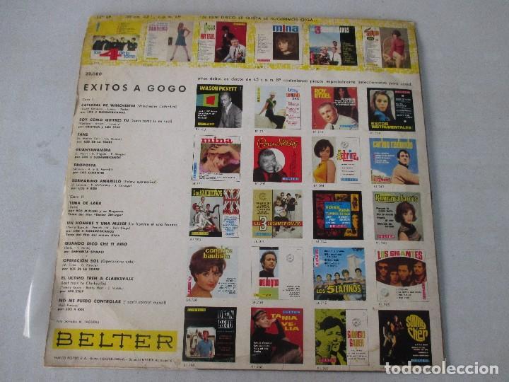 Discos de vinilo: Éxitos a gogó BELTER 1967 LOS 3 SUDAMERICANOS CRISTINA Y LOS STOP LOS DE LA TORRE LOS 4 ROS - Foto 2 - 122299743