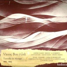 Discos de vinilo: LP SARDANES - VICENTÇ BOU - CLASSICS DE LA SARDANA . Lote 122310199