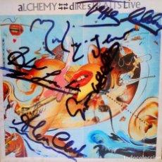 Discos de vinilo: DIRE STRAITS LP DOBLE ALCHEMY CON AUTOGRAFOS CON AUTENTIFICACION. Lote 122314271