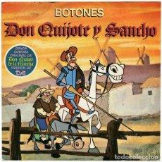 Discos de vinilo: BOTONES ?– DON QUIJOTE Y SANCHO - BANDA SONORA ORIGINAL DE DON QUIJOTE DE LA MANCHA, EMISIÓN DE TVE. Lote 122317171