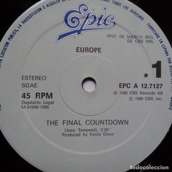 Discos de vinilo: EUROPE- THE FINAL COUNTDOWN - SPAIN LP 1986- VINILO EXC. ESTADO. - Foto 3 - 122333471