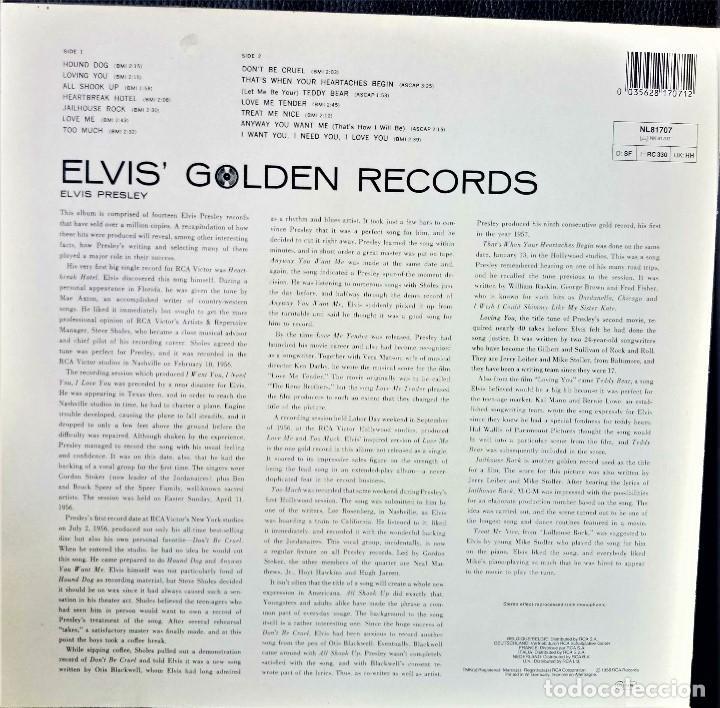 Discos de vinilo: {ELVIS PRESLEY} ELVIS GOLDEN RECORDS ? LP ? - - GERMANY / NM/NM - Foto 2 - 122350259