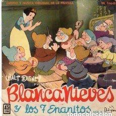 Discos de vinilo: BLANCANIEVES Y LOS SIETE ENANITOS VOL.2 - EP DISNEYLAND 1962 (CUENTO Y MÚSICA DE LA PELÍCULA) . Lote 122353907