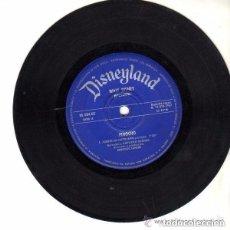Discos de vinilo: WALT DISNEY, PINOCHO EP DISNEYLAND 1967 - SOLO DISCO. Lote 122354475