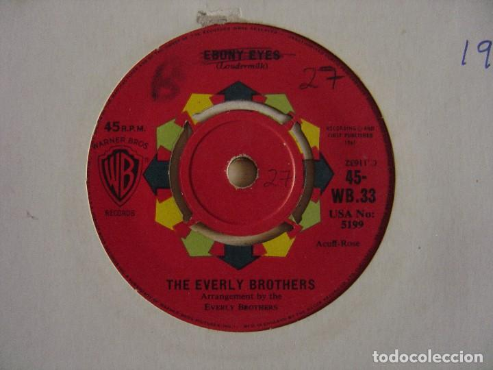 The Everly Brothers - Walk Right Back + Ebony eyes - SINGLE UK 1961 - WARNER
