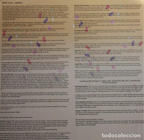 Discos de vinilo: THE HOT 8 BRASS BAND * 2LP 180g + Cupón descarga * Precintado!! - Foto 6 - 122435151