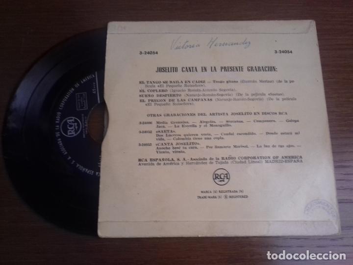 Discos de vinilo: SINGLE - JOSELITO - EL NIÑO DE LA VOZ DE ORO - EDITION SPANISH - Foto 2 - 122440859