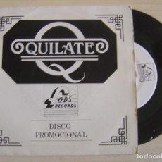 Discos de vinilo: QUILATE - PO PO PO - SINGLE PROMOCIONAL 1989 - FODS. Lote 122442107