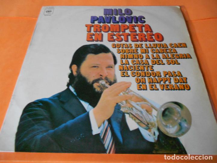 MILO PAVLOVIC. TROMPETA EN ESTEREO.CBS.1970. RARO. (Música - Discos - LP Vinilo - Orquestas)