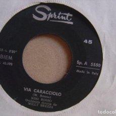 Discos de vinilo: NINI ROSSO - IL SILENZIO + VIA CACCIOLO - SINGLE ITALIANO - SPRINT. Lote 122450051