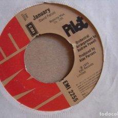 Discos de vinilo: PILOT - JANUARY + NEVER GIVE UP - SINGLE UK 1974 - EMI. Lote 122451271