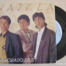 Discos de vinilo: NAJELA - ENAMORADO DE TI + AYUDAME - SINGLE 1991 - FONOMUSIC. Lote 122461603