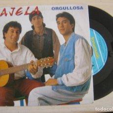 Discos de vinilo: NAJELA - ORGULLOSA + MIRABA - SINGLE 1991 - FONOMUSIC. Lote 122466935