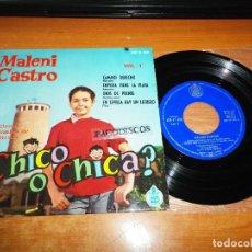 Discos de vinilo: MALENI CASTRO CAMINO DERECHO CANCIONES DE LA PELICULA ¿CHICO O CHICA? EP VINILO 1962 HISPAVOX 4TEMAS. Lote 122471979