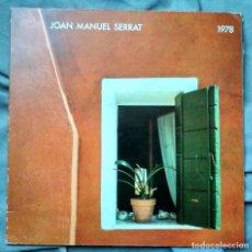 Discos de vinilo: SERRAT - 1978. LP PRIMERA EDICIÓN CON CUADERNILLO DE TEXTOS INTEGRADO EN LA CARPETA.. Lote 122523927