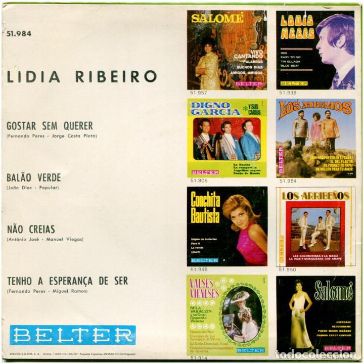 Discos de vinilo: Lidia Ribeiro - Gostar sem querer - Ep Spain 1970 - Belter 51-984 - Foto 2 - 122535351