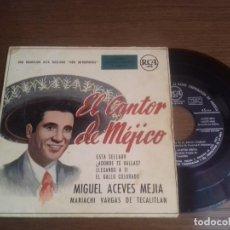 Discos de vinilo: SINGLE - MIGUEL ACEVES MEJIA - EL CANTOR DE MEJICO - EDITION SPANISH. Lote 122536151