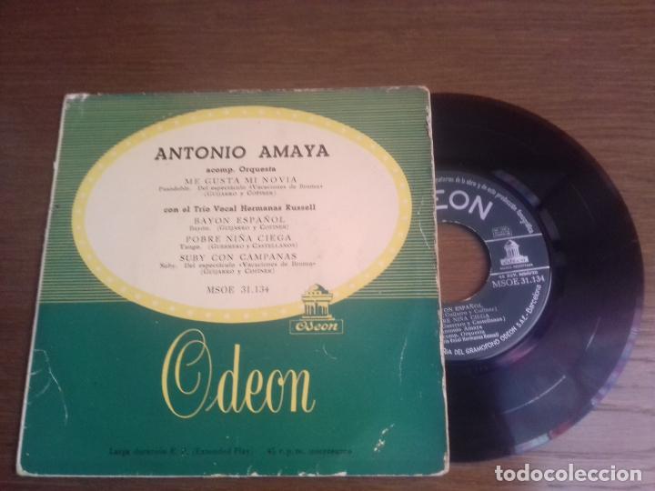 SINGLE - ANTONIO AMAYA - ME GUSTA MI NOVIA - EDITION SPANISH (Música - Discos - Singles Vinilo - Flamenco, Canción española y Cuplé)
