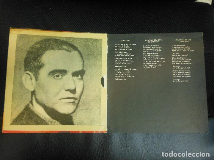 Discos de vinilo: EP GARCIA LORCA POEMAS Y CANCIONES ALFREDO ALCON Y ENRIQUE VARGAS FLAMENCO DISCOS FLEXI ARGENTINA - Foto 2 - 122542067