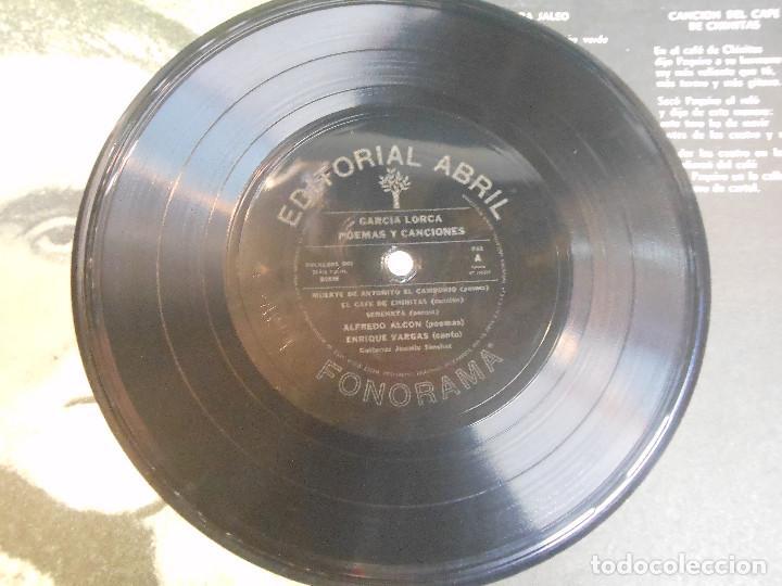 Discos de vinilo: EP GARCIA LORCA POEMAS Y CANCIONES ALFREDO ALCON Y ENRIQUE VARGAS FLAMENCO DISCOS FLEXI ARGENTINA - Foto 3 - 122542067