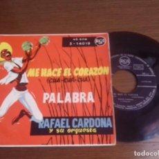 Discos de vinilo: SINGLE - RAFAEL CARDONA Y SU ORQUESTA - ME HACE EL CORAZON (CHA,CHA,CHA)- EDITION SPANISH. Lote 122543283