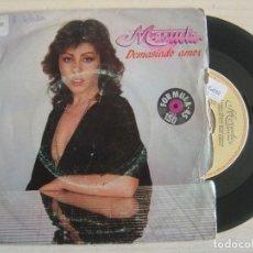 Discos de vinilo: MANUELA - DEMASIADO AMOR + EN ADELANTE - SINGLE PROMOCIONAL 1983 - EMI. Lote 122564767
