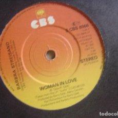 Discos de vinilo: BARBRA STREISAND - RUN WILD + WOMAN IN LOVE - SINGLE UK 1980 - CBS. Lote 122569743