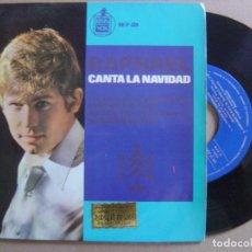 Discos de vinilo: RAPHAEL - CANTA A LA NAVIDAD - EP 1965 - HISPAVOX. Lote 122574163