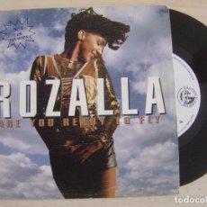 Discos de vinilo: ROZALLA - ARE YOU READY TO FLY - SINGLE PROMOCIONAL 1992 - BLANCO Y NEGRO. Lote 122576235