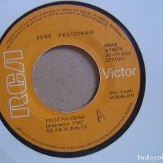 Discos de vinilo: JOSE FELICIANO - EL PEQUÑO TAMBORILERO + FELIZ NAVIDAD - SINGLE 1971 - RCA. Lote 122576599