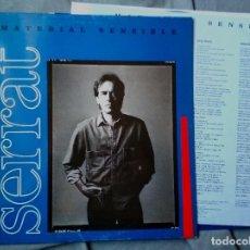 Discos de vinilo: SERRAT - MATERIAL SENSIBLE. LP 1989. CON HOJA DE PROMOCIÓN ESPECIAL.. Lote 122581579
