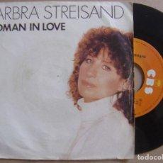 Discos de vinilo: BARBRA STREISAND - RUND WILD + WOMAN IN LOVE - SINGLE HOLANDES 1980 - CBS. Lote 122583403